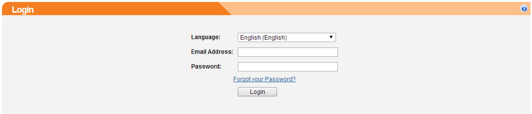 An example of the management login